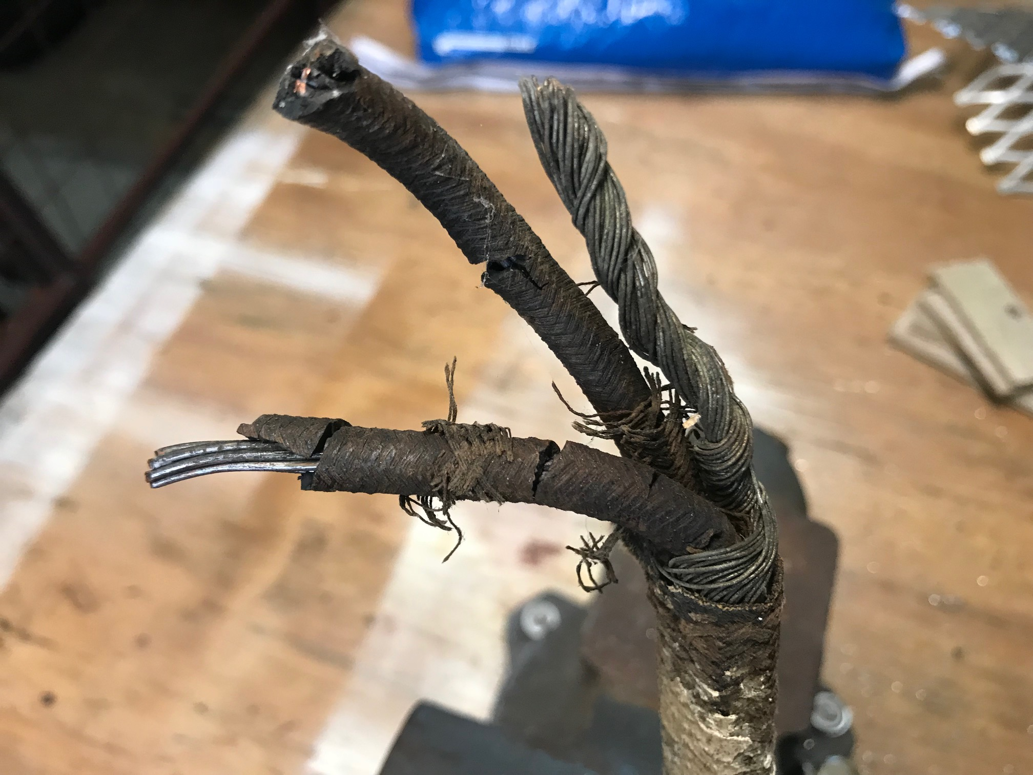 Blog Cornerstone Home Inspection Group Llc Overheated Electrical Wiring Copper Rubber Insulated Cloth Was Commonly Used For Between The 1930s To 1950s And Is Frequently Misidentified By Inspectors